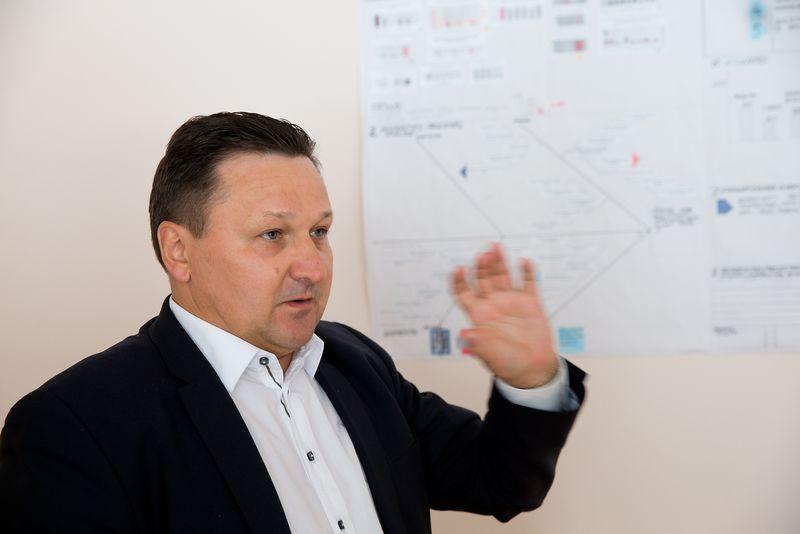 """Gintautas Bareika, SBA koncernui priklausančios AB """"Utenos trikotažas"""" generalinis direktorius. Vladimiro Ivanovo (VŽ) nuotr"""