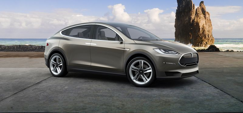 """Tesla Model X"" vizualizacija. Gamintojo nuotr."