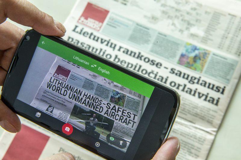 """Reikšmingus vertimo ir lingvistinių programų atnaujinimus pastaruoju metu pateikė """"Google"""" ir kitos IT milžinės.  VLADIMIRO IVANOVO (VŽ) NUOTR."""
