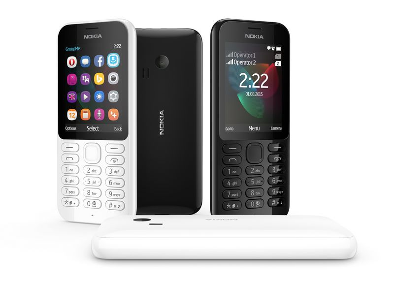 """""""Nokia 222"""" Gamintojo nuotr."""
