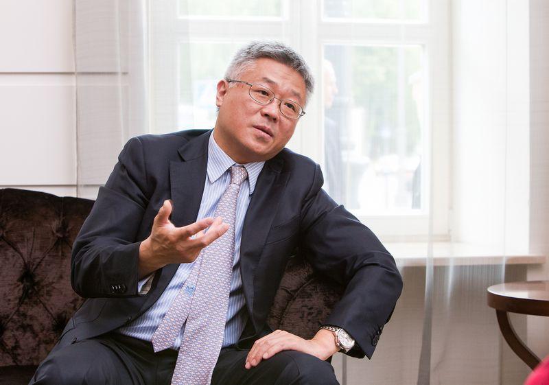 """finansinių paslaugų bendrovės """"Deloitte"""" Kinijos padalinio vyriausiasis ekonomistas. Juditos Grigelytės (VŽ) nuotr."""