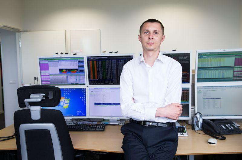Arvydas Jacikevičius, SEB banko Finansų maklerio skyriaus vadovas. Juditos Grigelytės (VŽ) nuotr.