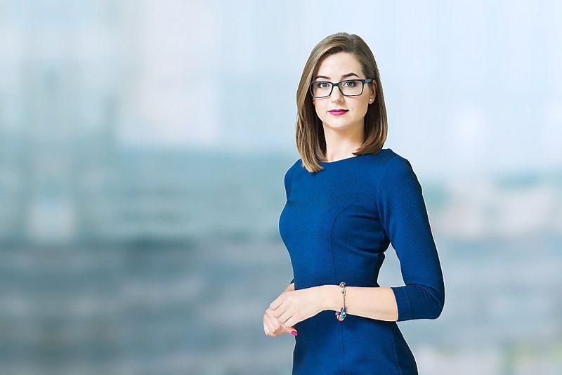 """Ieva Četrauskaitė, advokatų kontoros """"Cobalt"""" asocijuota teisininkė."""