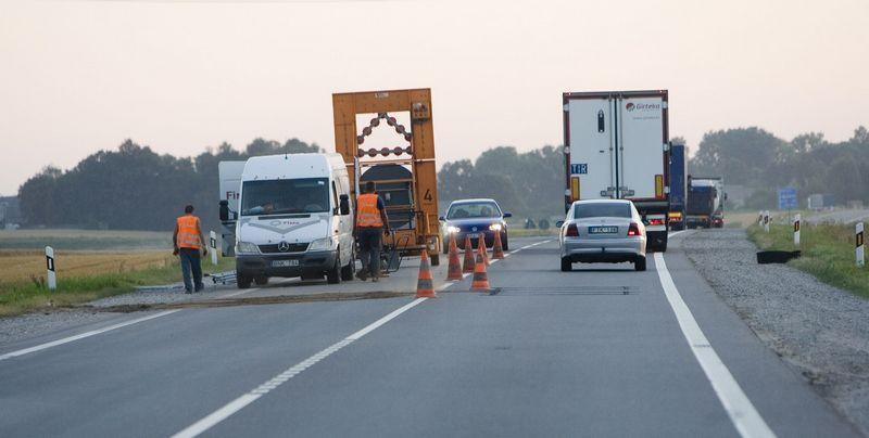 """""""Via Baltica"""" magistralinio kelio A5 Kaunas-Marijampolė-Suvalkai rekonstrukcijos planuojama pabaiga - 2018 metai. Juditos Grigelytės (VŽ) nuotr."""