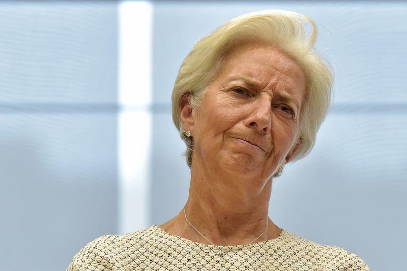 """Christine Lagarde, TVF vadovė, mano, kad pasaulio ūkis šiemet augs kiek lėčiau, nei laukta. erico vidalo (""""reuters"""" / """"scanpix"""") nuotr."""