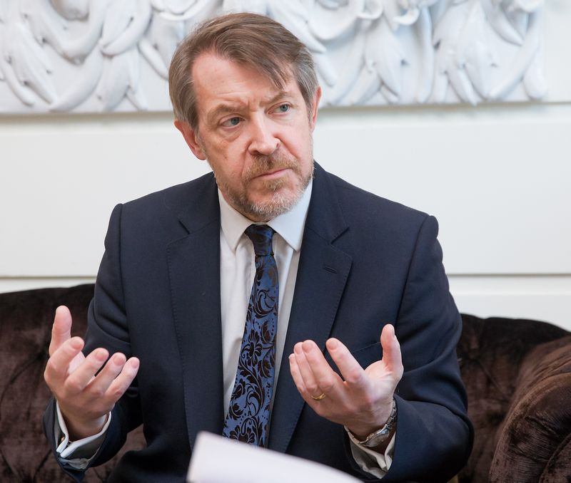SEB Jungtinės Karalystės padalinio vadovas, buvęs Londono Sičio meras, Lietuvos garbės konsulas Dorseto grafystėje. Juditos Grigelytės (VŽ) nuotr.