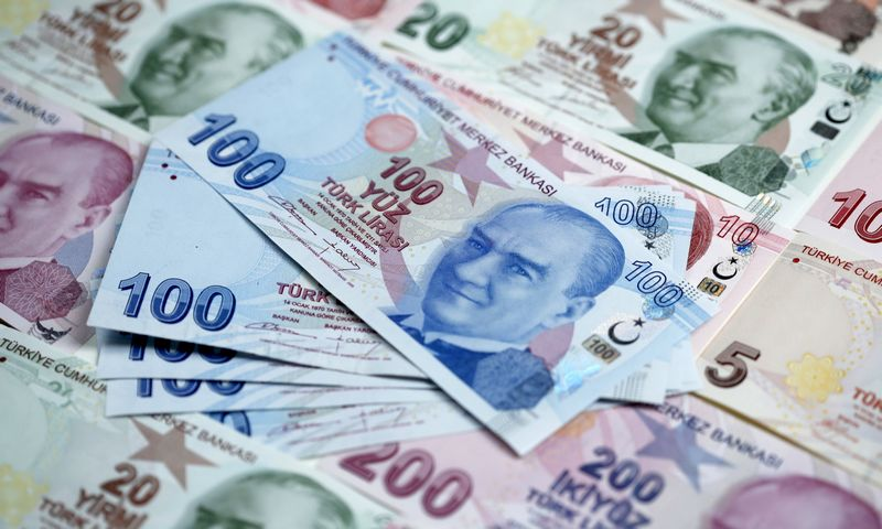 Turkish lira banknotes are seen in this file photo illustration shot in Istanbul, Turkey, January 7, 2014. REUTERS/Murad Sezer image.