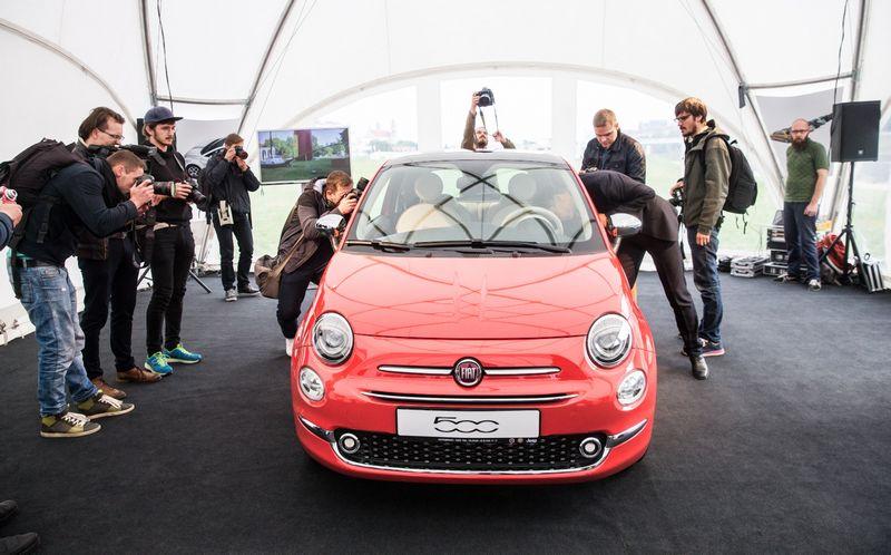 """Pristatytas """"Fiat 500"""", Juditos Grigelytės (VŽ) nuotr."""