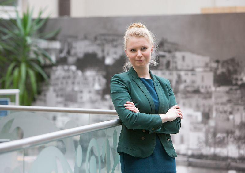 """Kotryna Stankutė-Jaščemskienė, GLL vadovė: """"Norint pakylėti valstybės įmones į kitą lygį, manau , negalima palikti už borto užsienyje išsilavinimą ir patirtį įgijusių profesionalų, kurie nemokamai galėtų perteikti savo žinias, pasidalinti vertingais kontaktais"""". Juditos Grigelytės (VŽ) nuotr."""