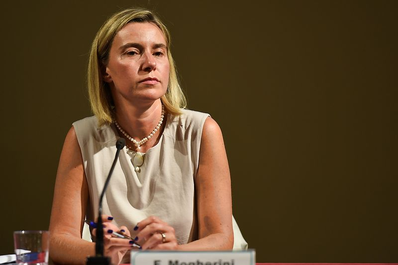 """Europos Sąjungos vyriausioji įgaliotinė užsienio reikalams ir saugumo politikai, Europos Komisijos (EK) viceprezidentė, pirmininko pavaduotoja Federica Mogherini. (""""LaPresse"""" / """"Scanpix"""") nuotr."""