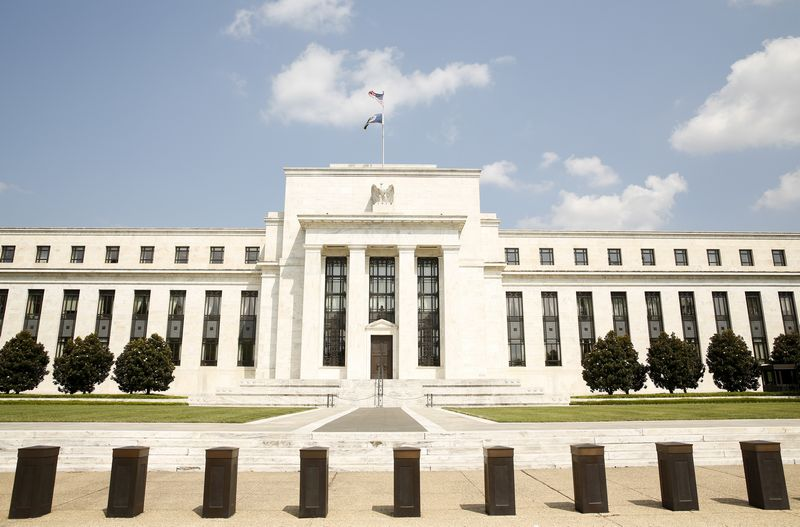 JAV centrinio banko pastatas Vašingtone. Kevin Lamarque (Reuters / Scanpix) nuotr.