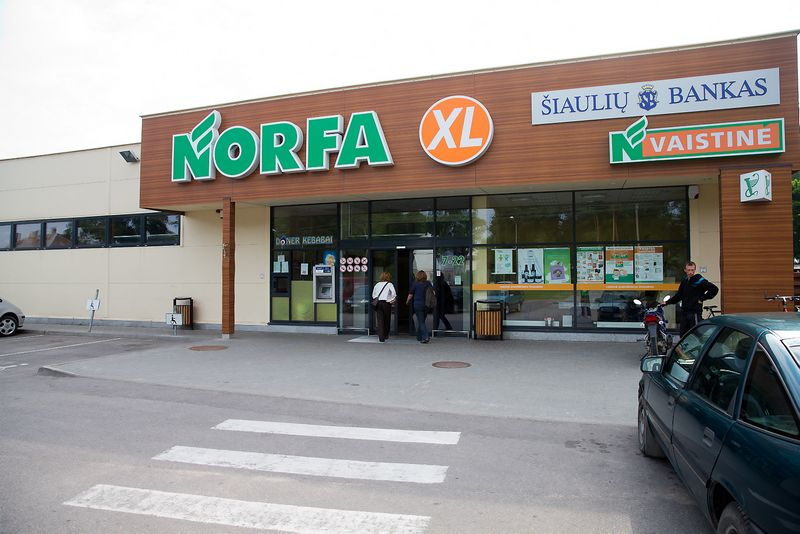 """Prekybos centras """"Norfa"""" Pagėgiuose. Vladimiro Ivanovo (VŽ)nuotr."""