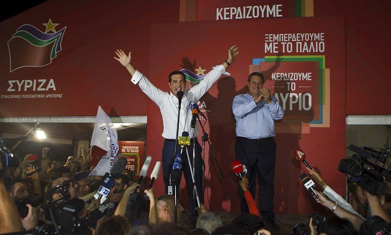 """Alexis Tsipras, Graikijos kairiųjų politinės partijos """"Syriza"""" vadovas. Dimitris Michalakis (""""Reuters"""" / """"Scanpix"""") nuotr."""