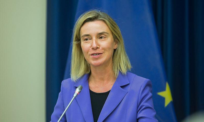 Federica Mogherini, ES vyriausioji įgaliotinė užsienio reikalams ir saugumo politikai, Europos Komisijos viceprezidentė. Juditos Grigelytės (VŽ) nuotr.