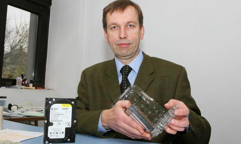 """Virginijus Jasaitis, asociacijos """"Infobalt"""" prezidentas ir """"Skaitos kompiuterių servisas"""" direktorius. Roberto Misiukonio (VŽ) nuotr."""