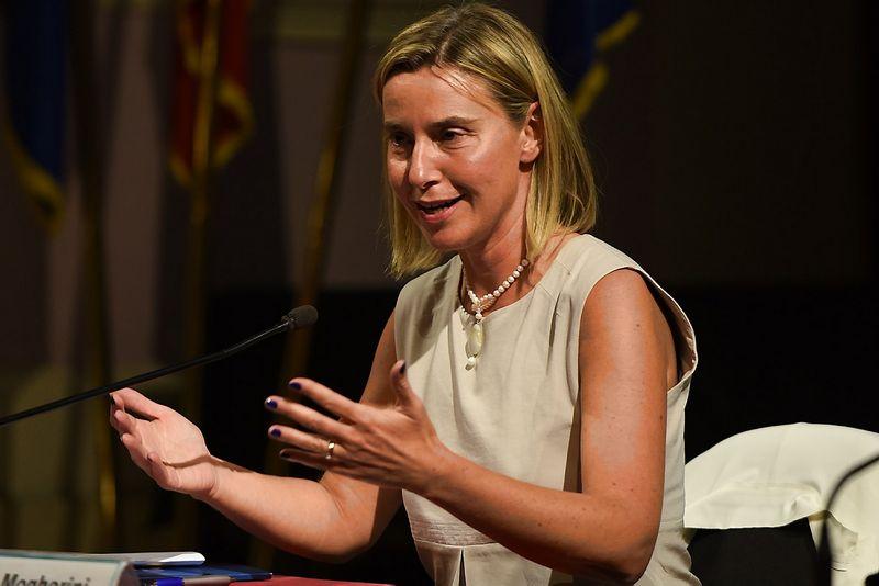 "Federica Mogherini. Alessandro Fiocchi (""LaPresse"" / ""Scanpix"") nuotr."