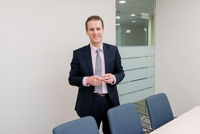 """Vytautas Sinius, Šiaulių banko administracijos vadovas: """"Apsispręsime dėl verslo finansavimo per EFSI tik kai turėsime visą informaciją, kaip veiks fondo garantijos bankų finansuojamiems projektams."""" Vladimiro Ivanovo (VŽ) nuotr."""