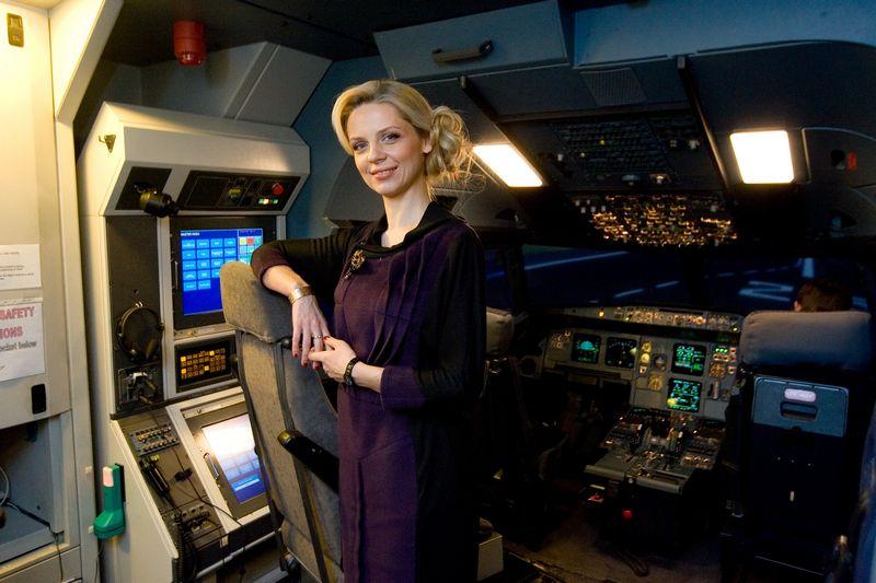 """Eglė Vaitkevičiūtė, generalinė """"BAA Training"""" direktorė: """"Šiandien mūsų aviacinių mokymų sprendimai prieinami Europos, NVS ir Azijos regionuose, todėl kompanijos pavadinimo keitimas natūraliu sprendimas."""" Judtios Grigelytės (VŽ) nuotr."""