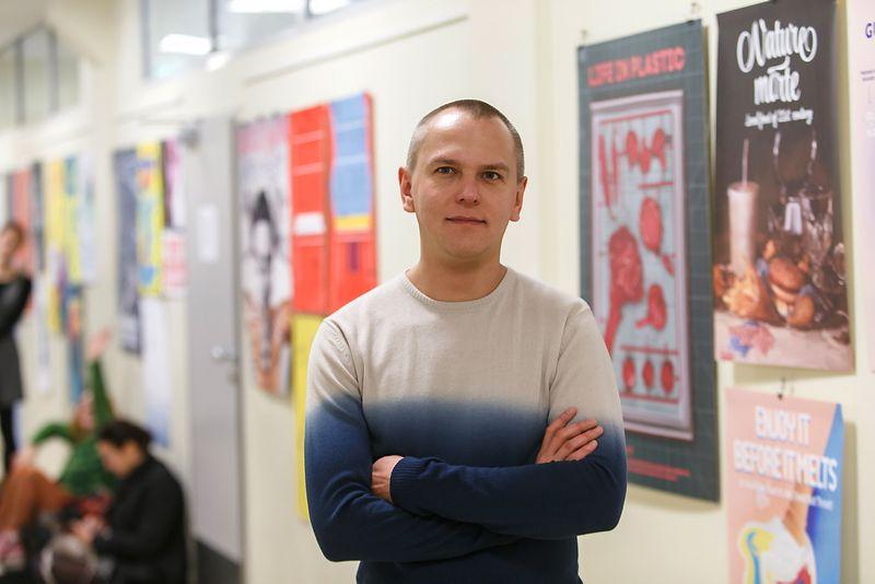 Edvardas Kavarskas, Lietuvos grafinio dizaino asociacijos valdybos narys, pakuočių dizaineris. Vladimiro Ivanovo (VŽ) nuotr.