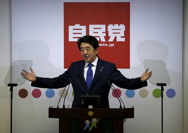 Japan's Prime Minister Shinzo Abe.  Issei Kato (Reuters / Scanpix)