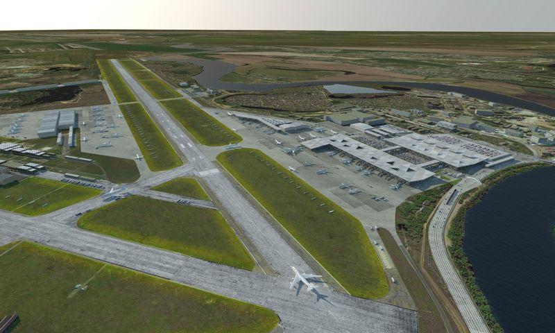 """""""Avia Solutions Group"""", statančiai oro uostą Ramenskojė gyvenvietėje, rublio nuvertėjimas buvo naudingas, nes statybos atpigos. """"Avia Solutions Group"""" nuotr."""