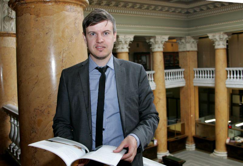 Tomas Kipišas, Šiaulių banko finansų makleris. Algimanto Brazdžiaus (VŽ) nuotr.