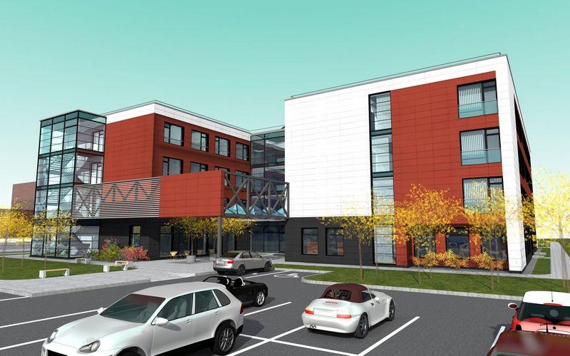 """Naujo reabilitacijos centras """"Upa"""" atidarymas numatytas rudenį. Bendrovės nuotr."""