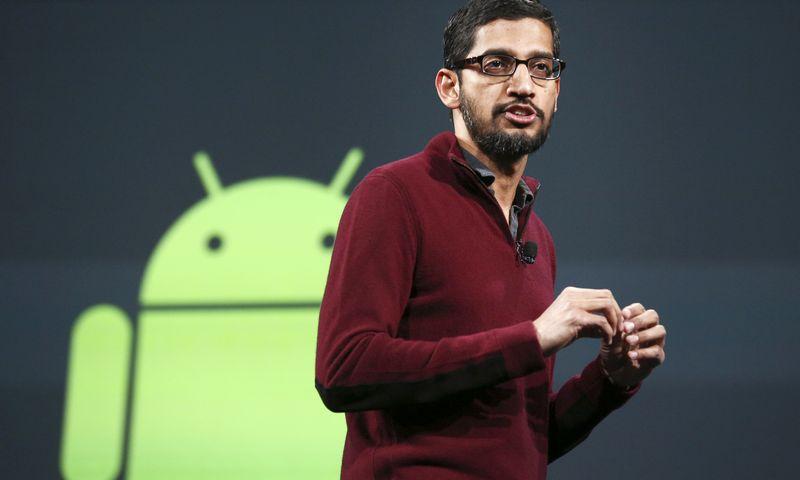 "Sundaras Pinchai, ""Google"" generalinis direktorius. Elijah Nouvelage (""Scanpix""/""Reuters"") nuotr."