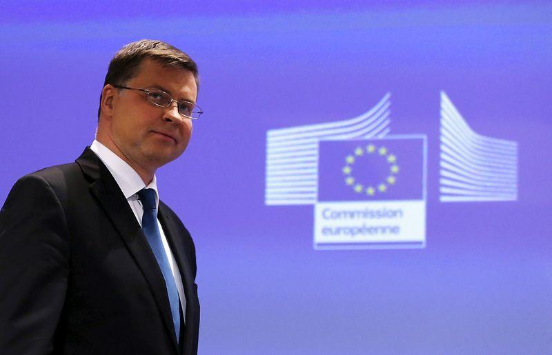 """Europos Komisijos viceprezidentas Valdis Dombrovskis. Francois Lenoiro (""""Reuters"""" / """"Scanpix"""") nuotr."""