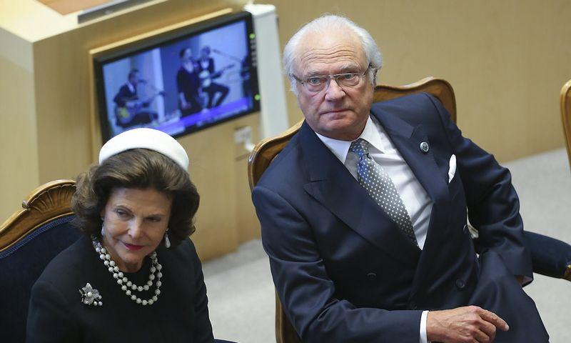 """Švedijos karalius Karlas XVI Gustavas ir karalienė Silvija. Sarren Anderson (""""TT News Agency"""" / Scanpix"""") nuotr."""