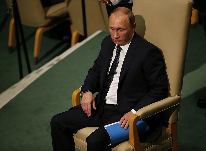 """Niujorke Vladimirui Putinui pavyko patraukti dėmesį. """"Reuters"""" nuotr."""