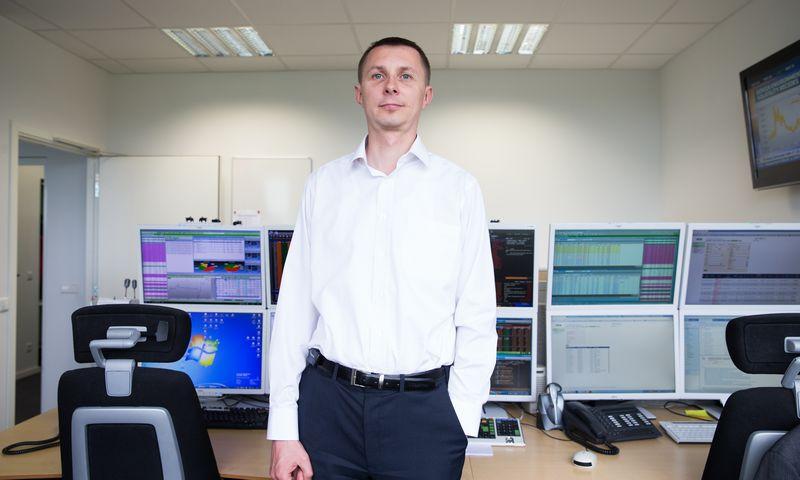 Arvydas Jacikevičius, SEB banko Finansų rinkų departamento Finansų maklerio skyriaus vadovas. Juditos Grigelytės (VŽ) nuotr.