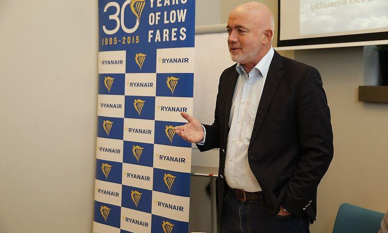 """Davidas O'Brienas, pigių skrydžių bendrovės """"Ryanair"""" komercijos direktorius. Vladimiro Ivanovo (VŽ) nuotr."""