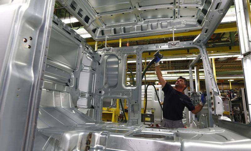 """Lėtėjimas besivystančiose rinkose rugpjūtį jau turėjo įtakos Vokietijos eksportui. Michaelos Rehle (""""Reuters"""" / """"Scanpix"""") nuotr."""