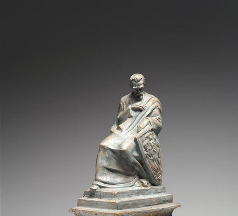 Paminklas iš bronzos (apie 3 m). gali būti nulietas pagal išlikusį nedidelį Rapolo Jakimavičiaus eskizą J. Basanavičiaus paminklui, kuris buvo sukurtas dar 1930-aisiais metais. Sauliaus Žiūros nuotr.