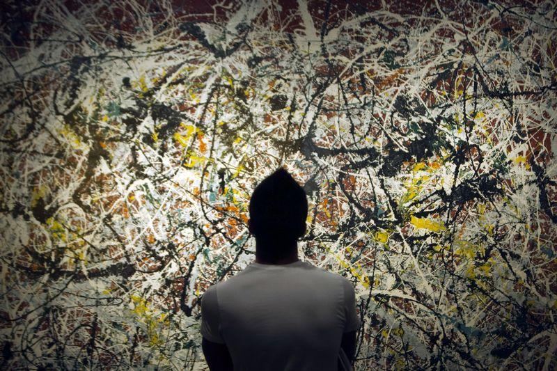 """Peggy Guggenheim Collection"" muziejuje iki lapkričio 16 d. veikia Jacksono Pollocko (1912–1956) paroda ""Mural: Energy Made Visible"". Morteza Nikoubazl (Reuters/Scanpix) nuotr."