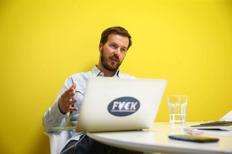 """Taavet Hinrikus, vienas pinigų pervedimo internetu bendrovės """"TransferWise"""" įkūrėjų. Andraso Krallos (""""Aripaev"""") nuotr."""