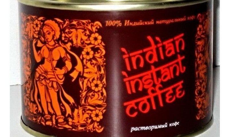 """Teismas nustatė, jog """"Angolita"""" bandytos įvežti tirpios kavos granulės yra pakuotėse, pažymėtose originalų """"Indian Instant Coffee"""" prekės ženklą atkartojančiais piešiniais. UAB """"Gemaga"""" nuotr."""