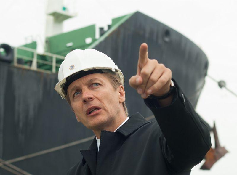 Arvydas Vaitkus, Klaipėdos valstybinio jūrų uosto direkcijos generalinis direktorius, prognozuoja, kad šiemet uoste bus pasiektas naujas metinis krovos rekordas.  ALGIMANTO KALVAIČIO NUOTR.