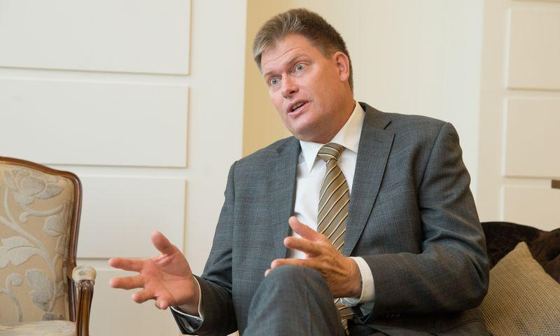 """Larsas George'as Hedlundas, """"Bergvik Skog"""" vadovas Latvijoje: """"Galimybė konsoliduoti miško valdas yra svarbiausia prielaida investuoti Lietuvoje. Smulkios valdos ir per didelė biurokratija kol kas neleidžia plėtoti veiklos Lietuvoje.""""  Juditos Grigelytės (VŽ) nuotr."""