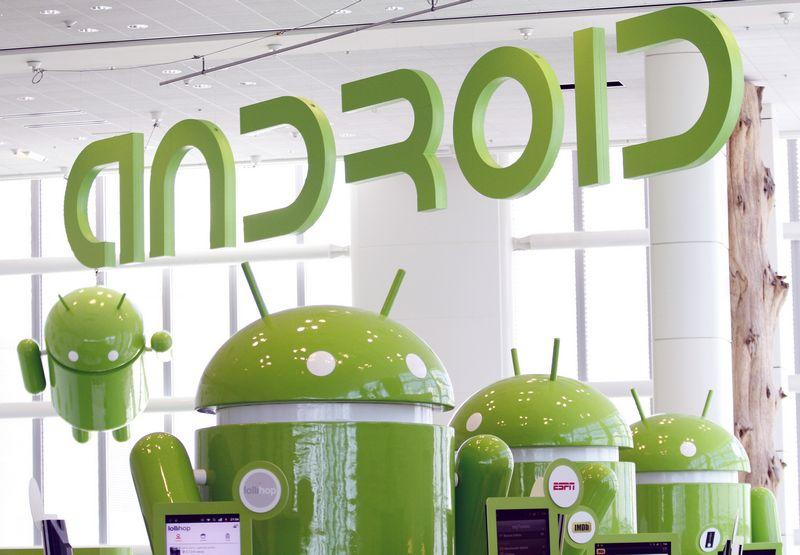 """Android"" logotipas. Becko Diefenbacho, (""Scanpix""/""Reuters"") nuotr."