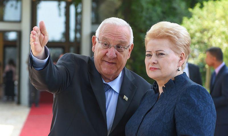 Dalia Grybauskaitė ir Reuvenas Rivlinas. Roberto Dačkaus (Prezidentūros) nuotr.