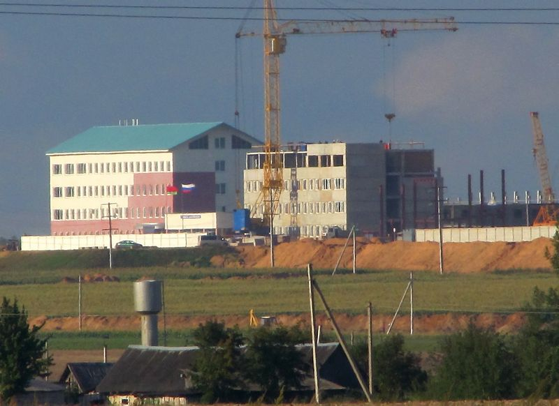 Statoma atominė elektrinė Baltarusijoje, netoli Mikailiškių, Astravo rajone. Alesio Fiodorovo nuotr,