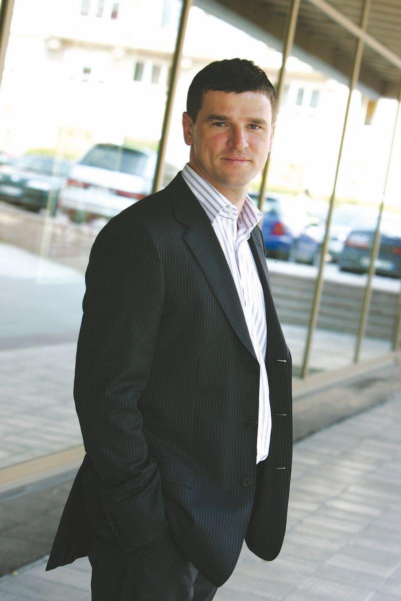 """Giedrius Jackūnas, UAB """"Glass LT"""" generalinis direktorius. Herkaus Milaševičiaus nuotr."""