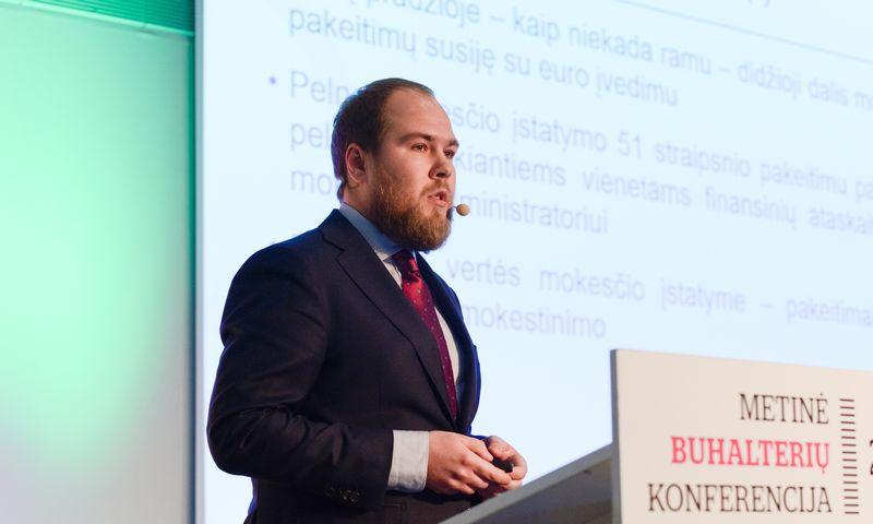 """Rokas Daugėla, advokatų kontoros """"Cobalt"""" mokesčių patarėjas: """"Pataisos gali turėti skaudžių pasekmių, nes jas taikant bus apmokestinami ir tarp Lietuvos įmonių keliaujantys dividendai."""" Aušros Barysienės nuotr."""