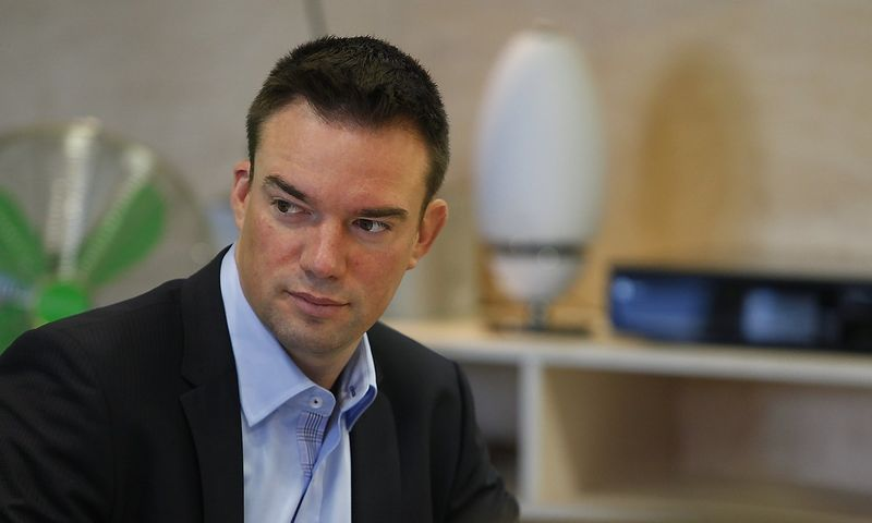 """""""Lietuviai turi daug noro, bet mažai daro"""", - sako Virginijus Doveika, SEB banko prezidento pavaduotojas. Juditos GRigelytės (VŽ) nuotr."""