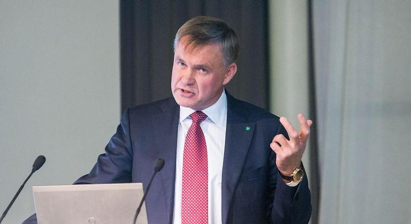 Robertas Dargis, Lietuvos pramonininkų konfederacijos prezidentas. Juditos Grigelytės (VŽ) nuotr.