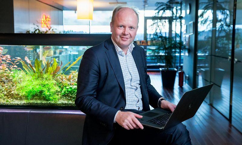 """Emmanuelis Plovieras, """"Teleperformace"""" vadovas Šveicarijoje ir Lietuvoje: """"Darbuotojų klausimas - svarbiausias. Tam tikras kalbas mokančių darbuotojų rasti veikiausiai bus sunkiau. Tačiau tikiu, kad siūlome daug – patogią darbo aplinką puikioje vietoje, gerą darbo atmosferą, gerą atlyginimą. Tikiu, kad tai padės pritraukti darbuotojų."""" JUDITOS GRIGELYTĖS (VŽ) NUOTR."""