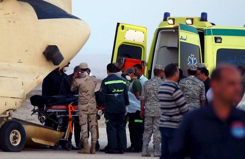 """Rusijos keleivinio lėktuvo sudužimo vieta Egipte, Sinaujaus pusiasalyje. (""""Reuters"""" / """"Scanpix"""") nuotr."""