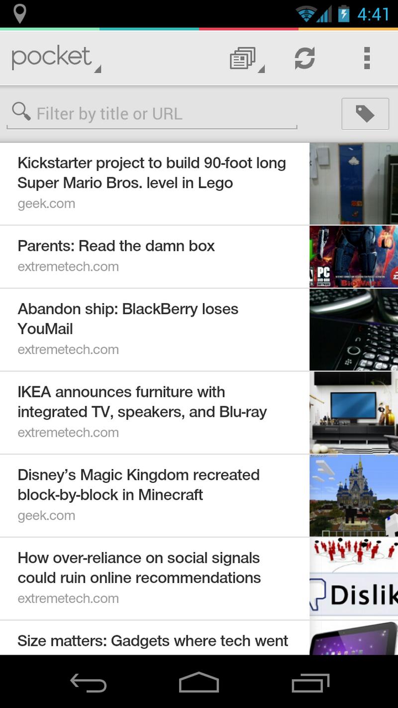 """""""Pocket"""" išmaniųjų telefonų aplikacija. Bendrovės nuotr."""